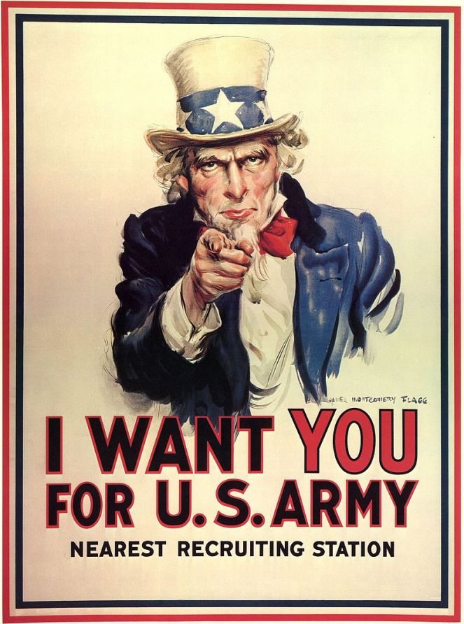 Flagg's famous Uncle Sam recruitment poster